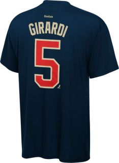 Dan Girardi Navy Reebok Name and Number New York Rangers T Shirt