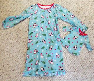 Penguin Pajamas PJs for Girls American Girl 18 Doll s M L