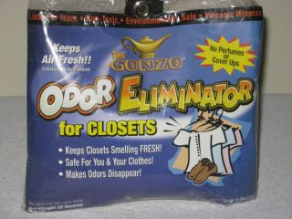 GONZO ODOR ELIMINATOR CLOSETS PETS GARAGES BASEMENTS SAFE 2 LB LASTS