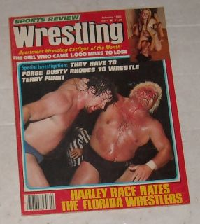 Feb 1980 Sports Review Wrestling Magazine Bikini Girls Dusty Harley