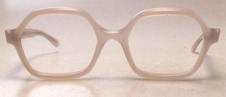 Vintage 1960s Eyeglasses White Plastic Eye Glasses Frames Made in