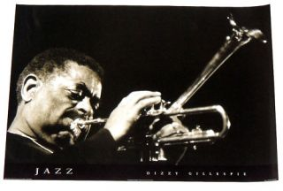 Dizzy Gillespie Jazz Poster 24 by 34 inches from 1996