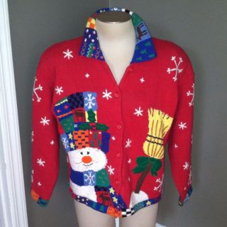 Christmas Sweater Design Options by Philip Jane Gordon Sz L VGC