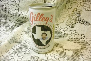 Gilleys Steel Bottom Pull Tab Top Beer Can Mickey Gilley