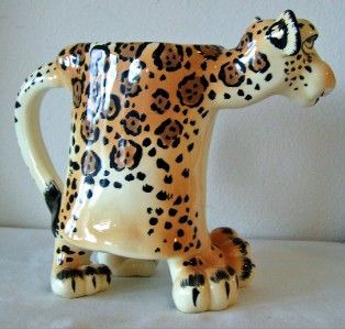 Zoe Leopard Mug Collectible Ceramic Retired SWAK
