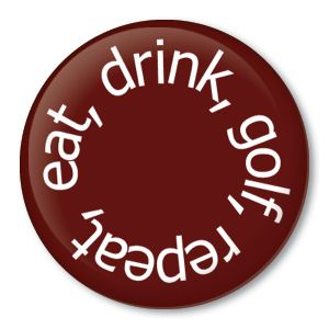 Eat Drink Golf Repeat Funny Golfer Gift Pin Ball Clubs