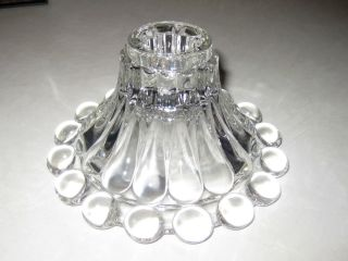 Vintage Clear Glass Candleholder Anchor Hocking Hobnail Boopie Set