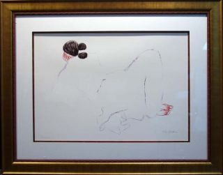 RC Gorman Jonie Hand Signed with Custom Frame Offset Lithograph Make