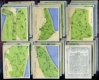 Tobacco Card Set John Player Championship Golf Courses 1936