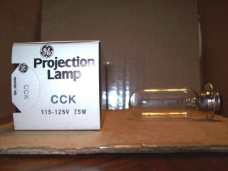 Projector Projection Lamp Bulb 115 125V 75W GE General Electric Brand