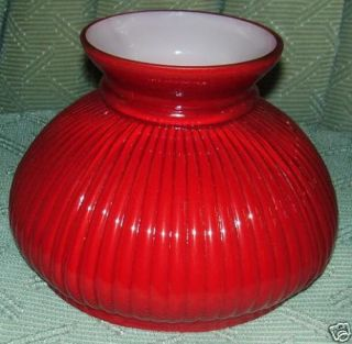 Ruby Cased Glass Shade Oil Kerosene Banquet Lamp Fit 7