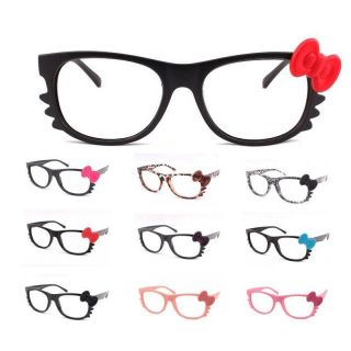 Fun Sytlish New Hello Kitty Bow Style Glasses Frame Black