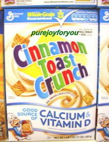 General Mills Cinnamon Toast Crunch Rice Cereal 12 Oz