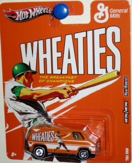 1970s Van Hot Wheels 2011 General Mills Cereal Weaties