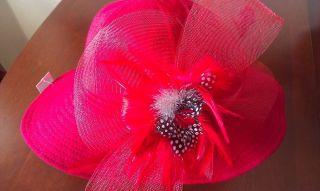 Giovannio 69029 Bright Red Dress Formal Church Kentucky Derby Hat