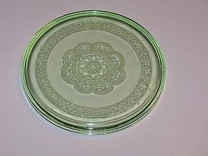 Depression Federal Glass Georgian Lovebirds Hot Plate Cold Cut Server