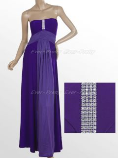 Elegant Purple Strapless Prom Gowns 09257 Size 2XL