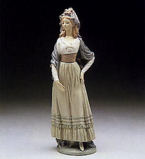 Lladro Goya Lady 5125 Retired 1989 Porcelain Lady Figurine