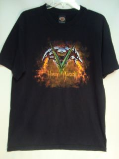 Mens T Shirt Black w Wolf Eagle Graphics Glendale AZ Sz L