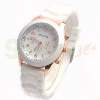 Geneva Silicone Quartz Ladies Womens Men Girl Jelly Wrist Watch