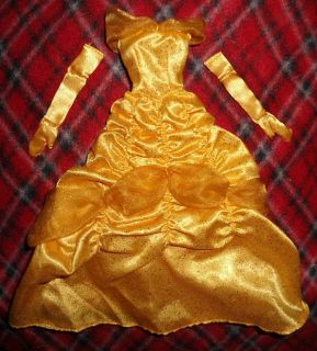 Beauty & the Beast BELLE 11 DOLL OUTFIT NEW Dress GOLDEN