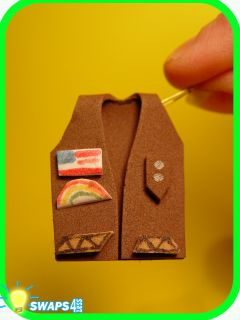 Brownie Vest in 3 D Scout Swaps Craft Kit SWAPS4LESS