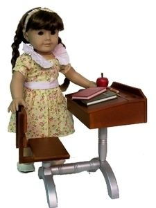 New 18 Doll School Desk Accessories for American Girl Doll Furniture
