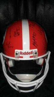 2012 Georgia Bulldogs Dawgs team signed Football HELMET  CERTIFICATE