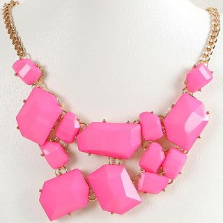 New Women Girls Jewelry Bib Chunky Choker Statement Fashion Necklace