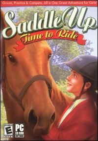 Saddle Up Time to Ride PC CD Girls Horse Riding Game