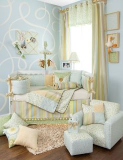 Glenna Jean Finley 4 Piece Crib Set Baby Bedding New In Original
