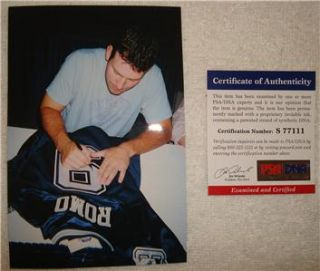 Tony Romo Signed Dallas Cowboys Jersey PSA DNA Authenticated Pro Bowl