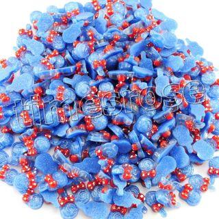 10 x DIY 3D Lollipop Glitter Nail Art Decoration Acrylic Blue 633