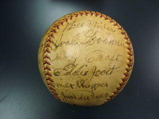 1940 Cincinnati Reds Team Signed Baseball World Champs