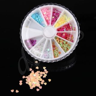 Wheel 3D Toe Nail Art Glitters Rhinestones Decoration