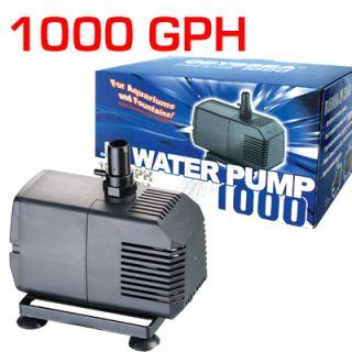Water Pump 1000 GPH Aquarium Pond Fountain Sump Wet Dry Filter