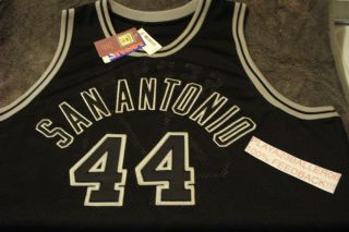 44 GEORGE GERVIN (The Iceman) San Antonio Spurs NBA BLACK Throwback