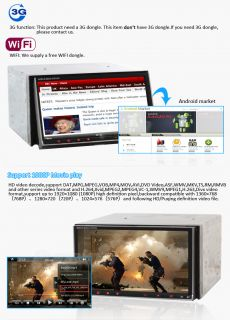 In Dash 2Din Car Radio on Android 2 3 Best Auto DVD w GPS WiFi 3G BT