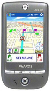Pharos Traveler GPS 525 Handheld PDA GPS Receiver Good Condition