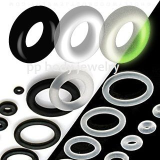 Black Clear Glow in Dark Rubber O Rings Specify Color Size