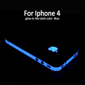 Blue Glow in the dark Edge skin Luminous Sticker apple logo film for
