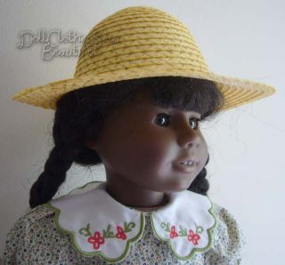 Doll Clothes Fits American Girl Addy Summer Straw Hat