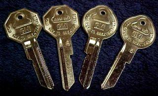 New All GM Oldsmobile Cutlass Key Blanks 1967