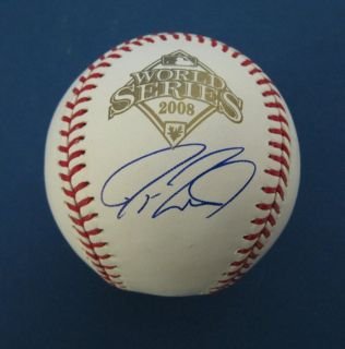 Jayson Werth Phillies Autographed/Signed 2008 World Series Baseball