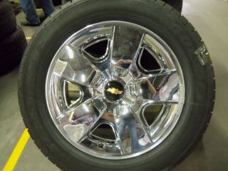 GM OEM CHEVROLET SILVERADO TAKE OFF SINGLE WHEEL / TIRE 20 CHROME
