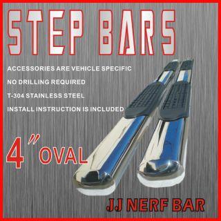 2012 GMC Sierra 1500 HD Crew Cab 4 Nerf Bars Side Steps Rails Running