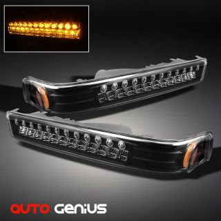 98 04 Chevy S10 Blazer GMC Sonoma Full LED Bumper Signal Lights Lamps