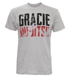 Gracie Academy Anaconda Jiu Jitsu MMA Shirt White Sizes s M L XL 2XL