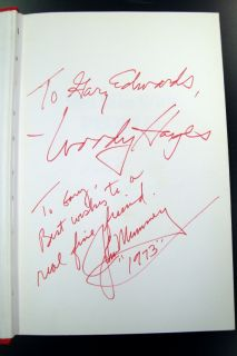 1973 Woody Hayes Signed You Win with People Ohio St Buckeyes Book