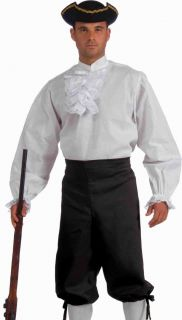 George Washington Colonial Historical Costume White Shirt
